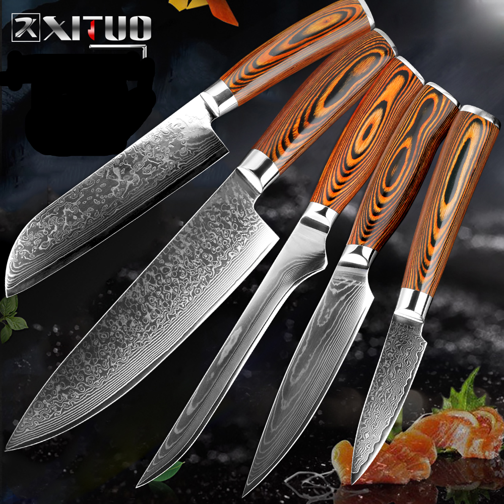 Mokuzai Series - Damascus Kitchen Knives